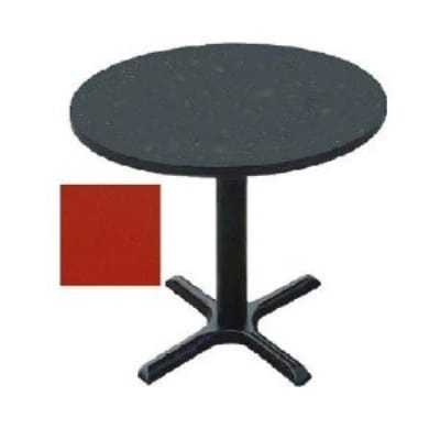 "Correll BXT24R 25 24"" Round Bar Cafe Table w/ 1.25"" Pressure Top, 29"" H, Red/Black"