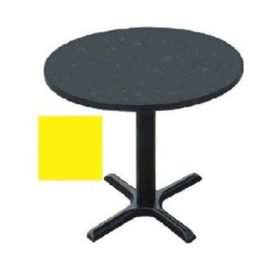 "Correll BXT24R 28 24"" Round Bar Cafe Table w/ 1.25"" Pressure Top, 29"" H, Yellow/Black"