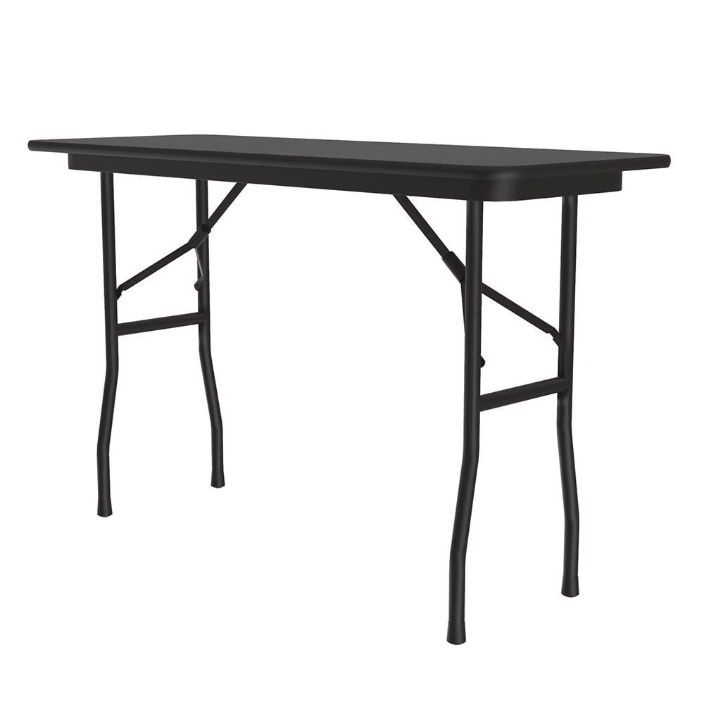 "Correll CF1848PX Folding Table w/ .75"" High-Pressure Top, 18x48"", Black Granite"