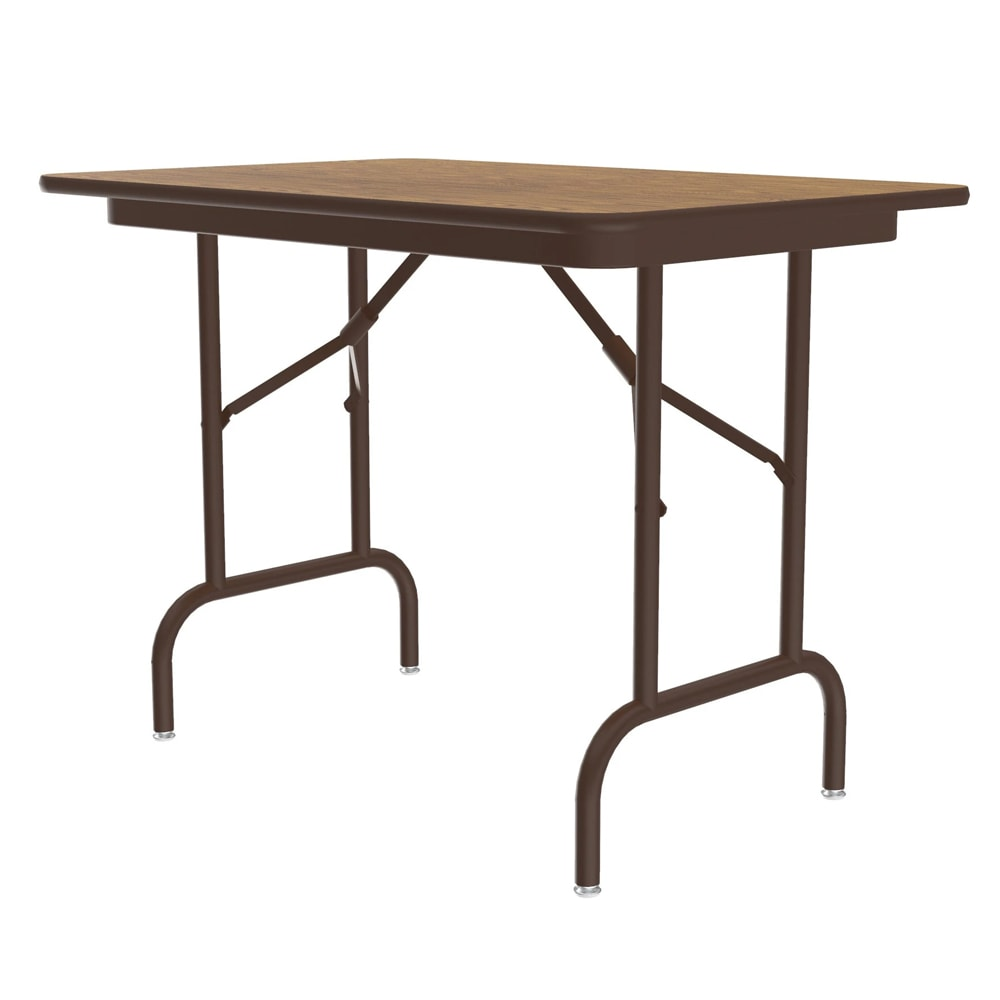 "Correll CF2436MK 06 Keyboard Height Folding Table w/ Melamine Top, 24 x 36"", Oak"