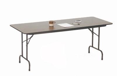 "Correll CF2448P 01 Folding Table w/ 5/8"" High-Pressure Top, 24 x 48"", Walnut"