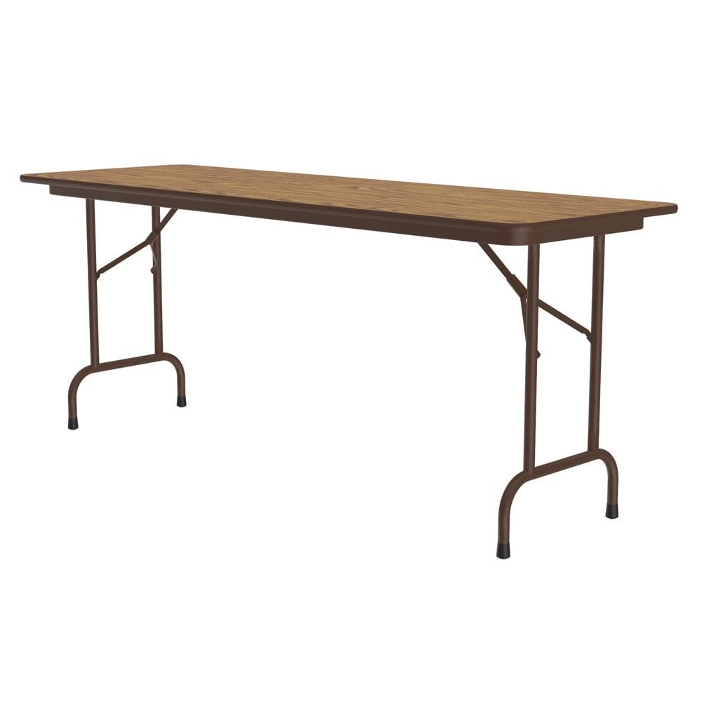 "Correll CF2460M 06 Melamine Folding Table w/ 5/8"" High Density Top, 24 x 60"", Medium Oak"