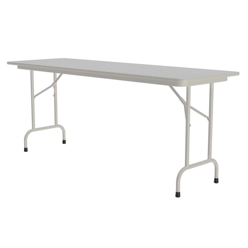 "Correll CF2460M 15 Melamine Folding Table w/ 5/8"" High Density Top, 24 x 60"", Gray Granite"