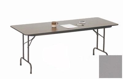 "Correll CF2472P 13 Folding Table w/ 5/8"" High-Pressure Top, 24 x 72"", Dove Gray"