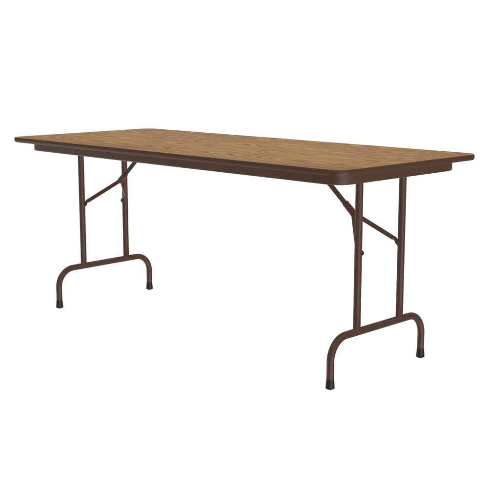 "Correll CF3060M 06 Melamine Folding Table w/ 5/8"" High Density Top, 30 x 60"", Medium Oak"