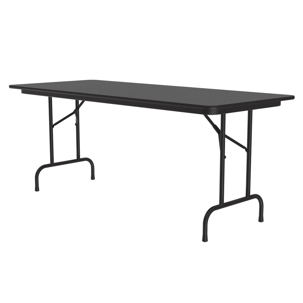 "Correll CF3060M 07 Melamine Folding Table w/ 5/8"" High Density Top, 30 x 60"", Black Granite"