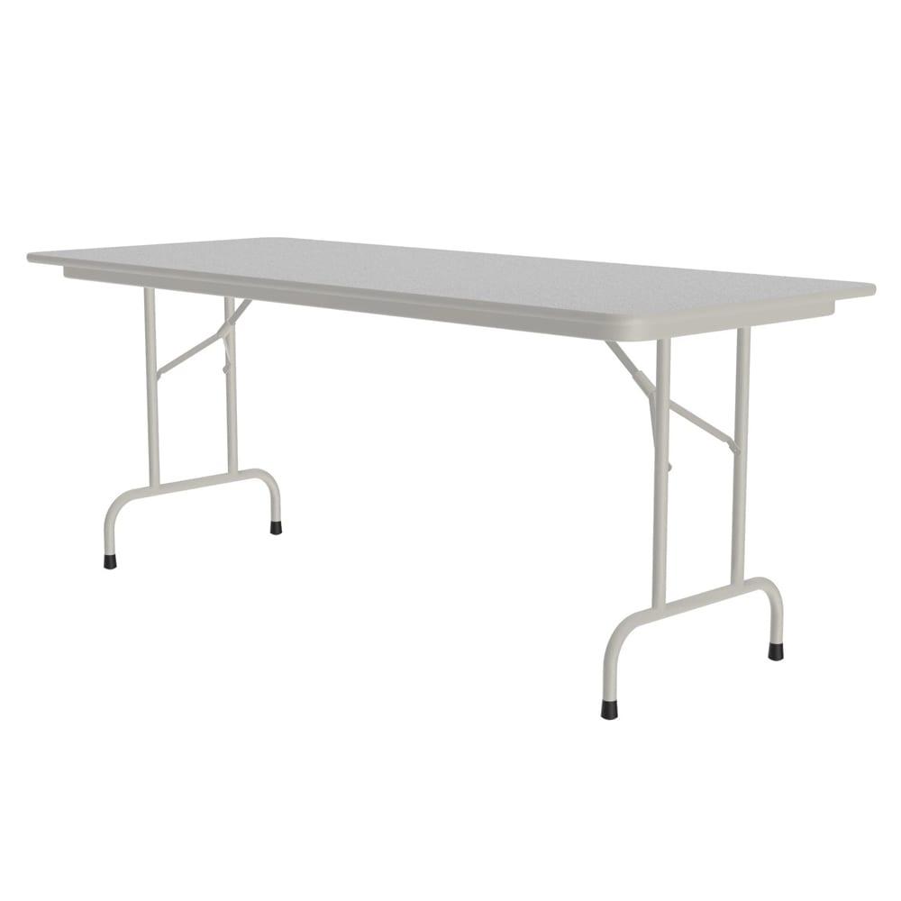 "Correll CF3060M 15 Melamine Folding Table w/ 5/8"" High Density Top, 30 x 60"", Gray Granite"