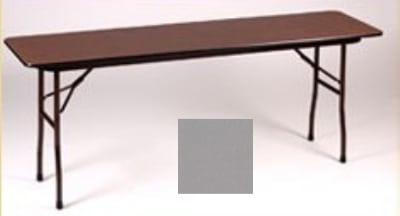 "Correll CF3060P 13 Folding Table w/ 5/8"" High-Pressure Top, 30 x 60"", Dove Gray"