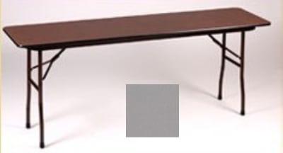 "Correll CF3696P 13 Folding Table w/ 5/8"" High-Pressure Top, 36 x 96"", Dove Gray"