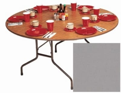 "Correll CF60P 13 60"" Round Folding Table w/ 5/8"" High-Pressure Top, Dove Gray"