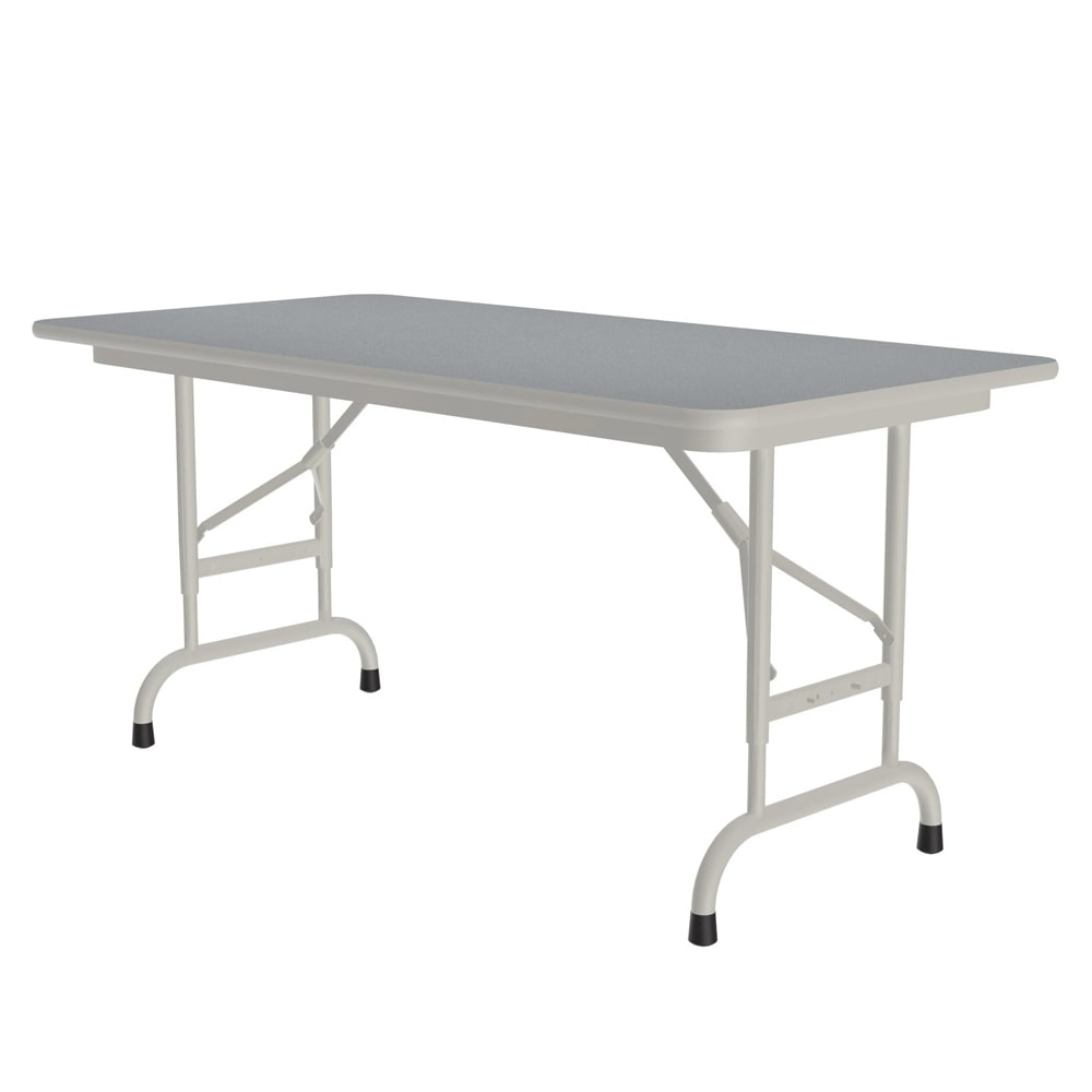 "Correll CFA2448PX 15 Folding Table w/ .75"" Top, Adjustable Height, 24 x 48"", Gray Granite"