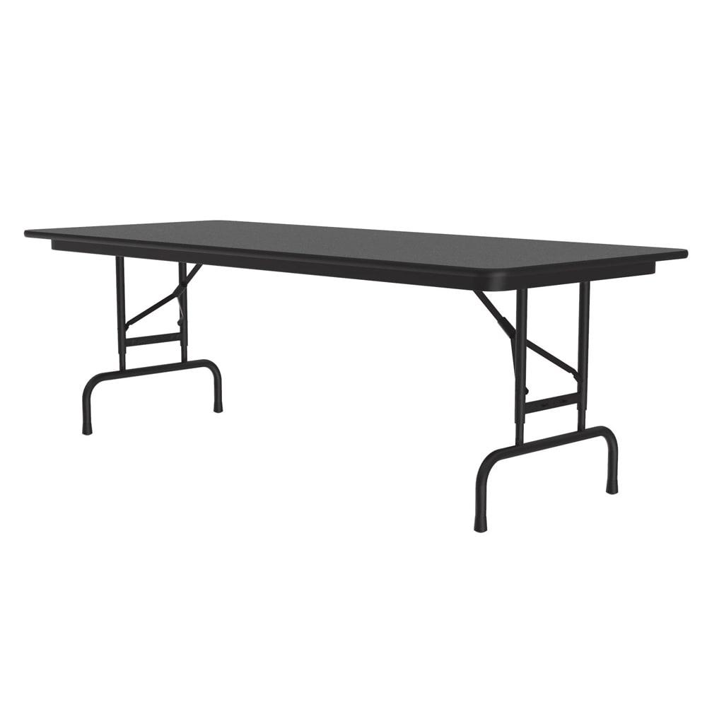 "Correll CFA3060M 07 Melamine Folding Table ,5/8"" Top, Adjustable Height, 30 x 60"", Black Granite"