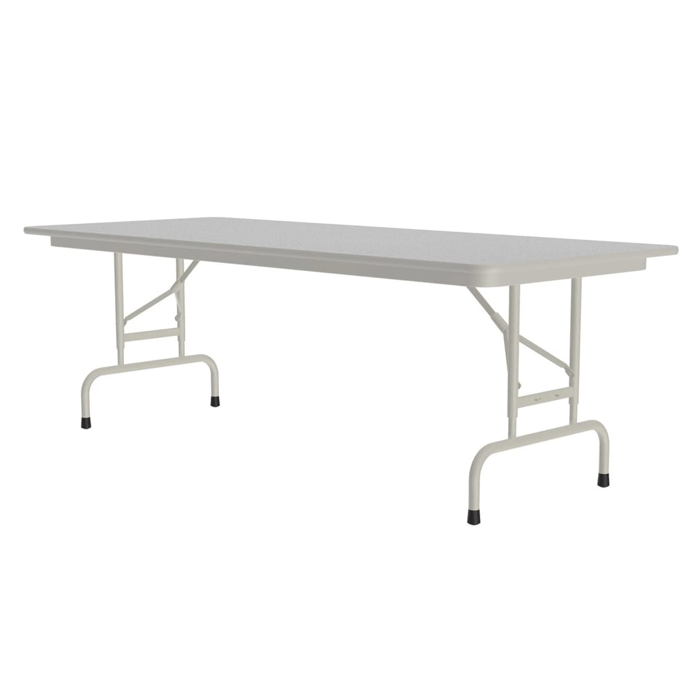 "Correll CFA3060M 15 Melamine Folding Table ,5/8"" Top, Adjustable Height, 30 x 60"", Gray Granite"
