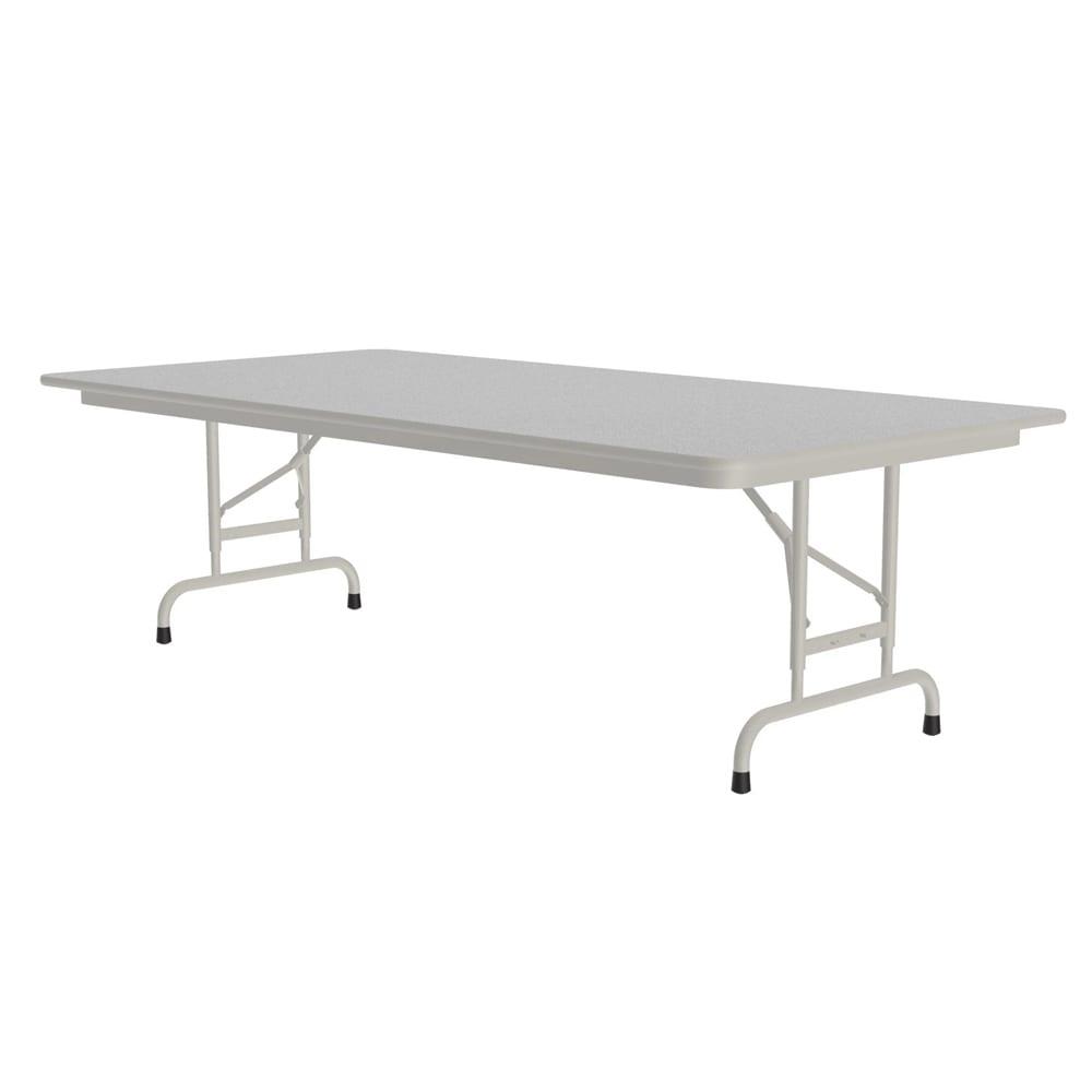 "Correll CFA3672M 15 Melamine Folding Table, 5/8"" Top, Adjustable Height, 36 x 72"", Gray Granite"