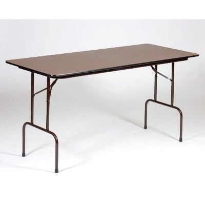 """Correll CFS3072M Counter Height Work Table, 5/8"""" Pressure Top, 30 x 72"""", 36"""" H, Walnut/Brown"""