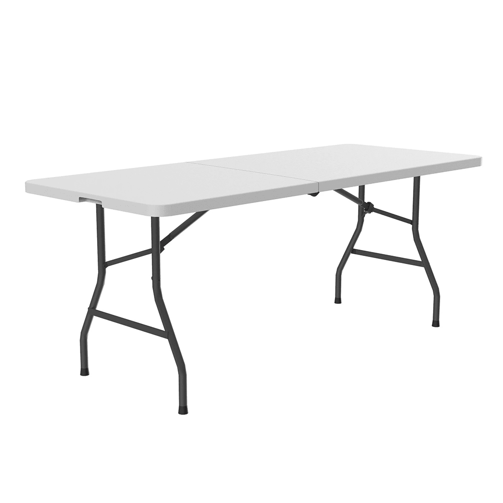 "Correll CP3072FM Economy Fold in Half Table, 30 x 72"", Blow-Molded, Gray Granite"