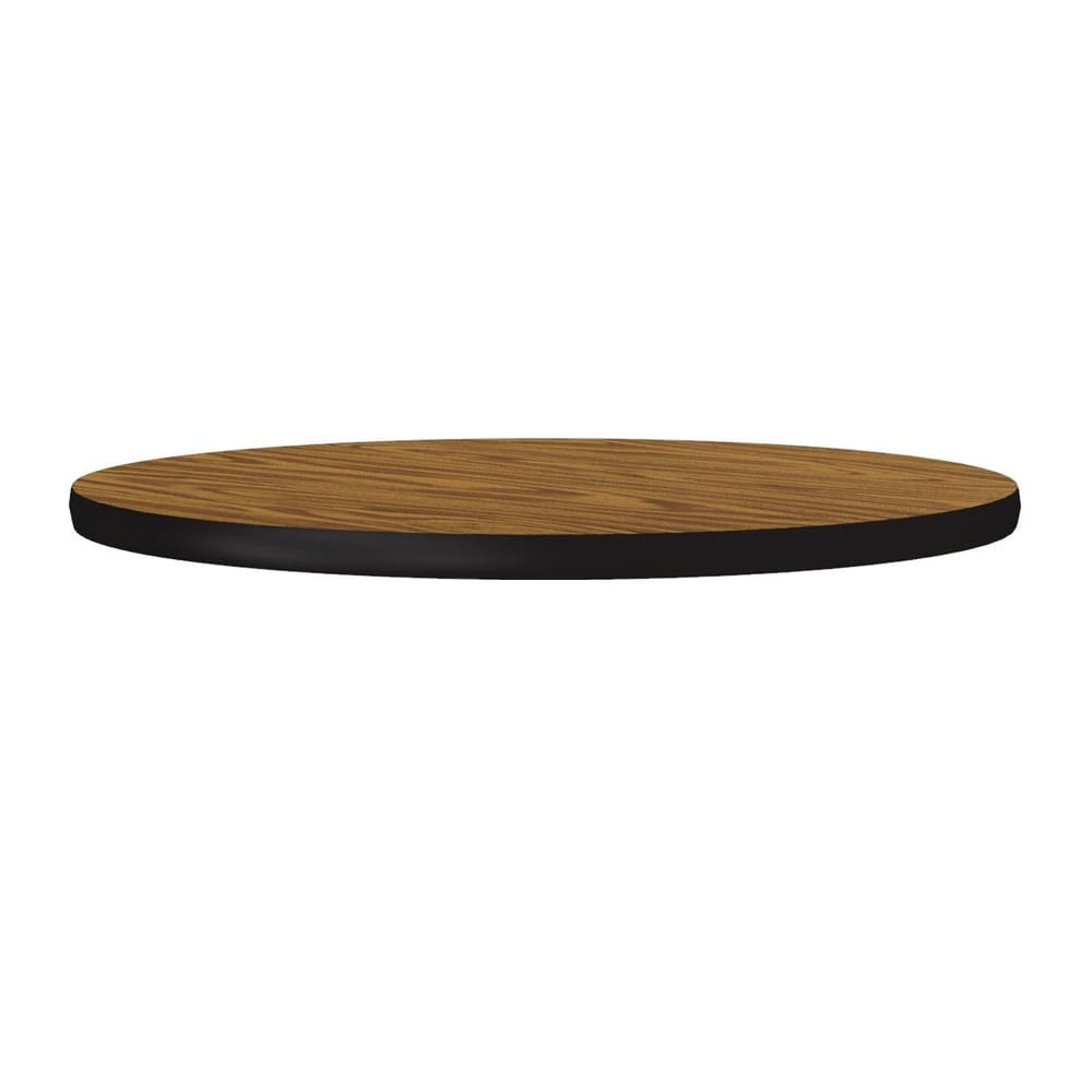 "Correll CT24R 06 24"" Round Cafe Breakroom Table Top, 1.25"" High Pressure, Oak"
