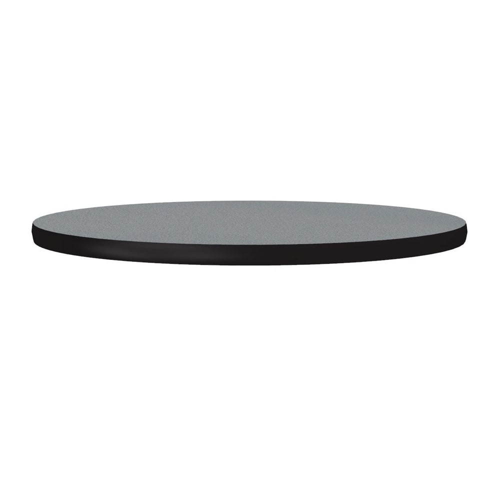 "Correll CT24R 15 24"" Round Cafe Breakroom Table Top, 1.25"" High Pressure, Gray Granite"