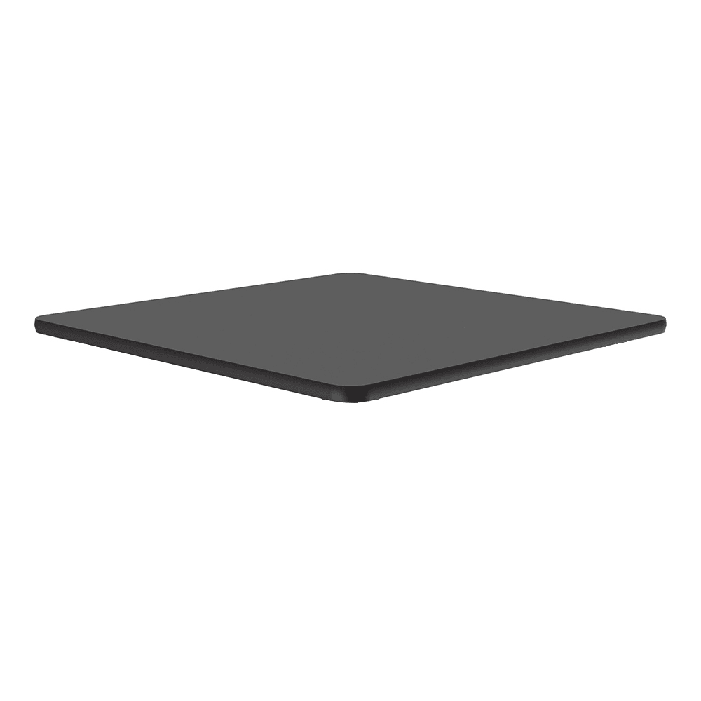 "Correll CT24S 07 24"" Square Cafe Breakroom Table Top, 1.25"" High Pressure, Black Granite"