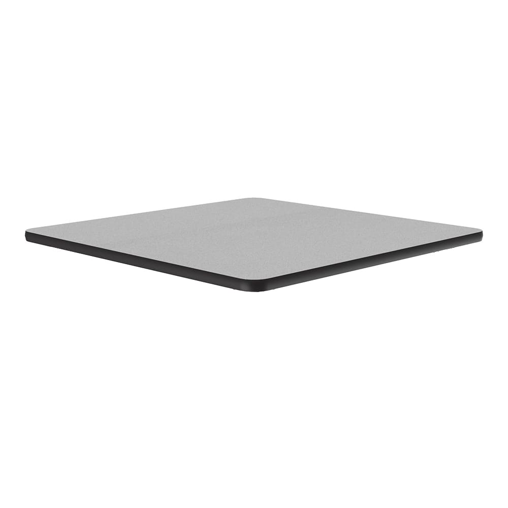"Correll CT24S 15 24"" Square Cafe Breakroom Table Top, 1.25"" High Pressure, Gray Granite"