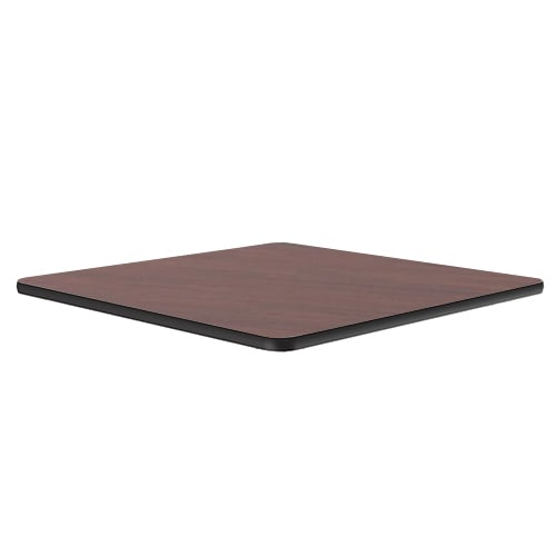 "Correll CT24S 20 24"" Square Cafe Breakroom Table Top, 1.25"" High Pressure, Mahogany"