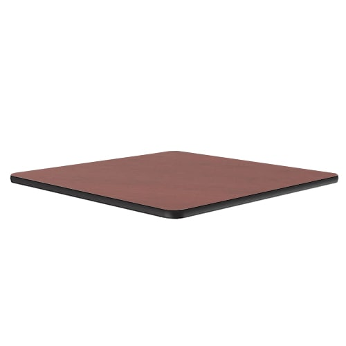 "Correll CT24S 21 24"" Square Cafe Breakroom Table Top, 1.25"" High Pressure, Cherry"