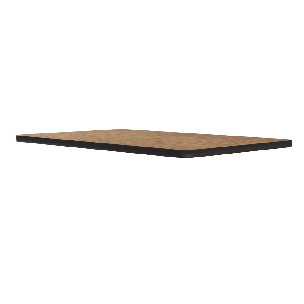 "Correll CT3042 06 Cafe Breakroom Table Top, 1.25"" High Pressure, 30 x 42"", Oak"