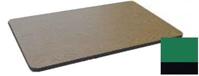 """Correll CT3042 29 Cafe Breakroom Table Top, 1.25"""" High Pressure, 30 x 42"""", Green"""