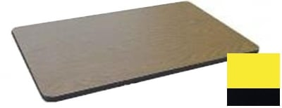 """Correll CT3048 28 Cafe Breakroom Table Top, 1.25"""" High Pressure, 30 x 48"""", Yellow"""