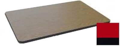 """Correll CT3060 25 Cafe Breakroom Table Top, 1.25"""" High Pressure, 30 x 60"""", Red"""