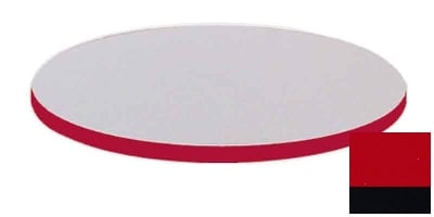 """Correll CT30R 25 30"""" Round Cafe Breakroom Table Top, 1.25"""" High Pressure, Red"""