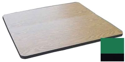 "Correll CT30S 29 30"" Square Cafe Breakroom Table Top, 1.25"" High Pressure, Green"