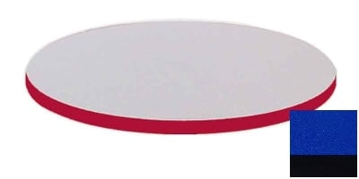 """Correll CT36R 27 36"""" Round Cafe Breakroom Table Top, 1.25"""" High Pressure, Blue"""