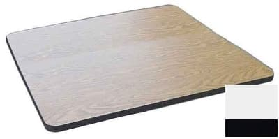 """Correll CT36S 26 36"""" Square Cafe Breakroom Table Top, 1.25"""" High Pressure, White"""