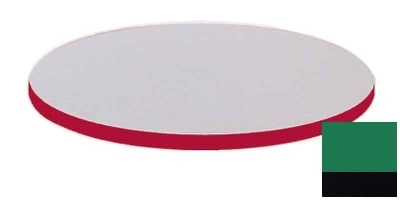 """Correll CT42R 29 42"""" Round Cafe Breakroom Table Top, 1.25"""" High Pressure, Green"""