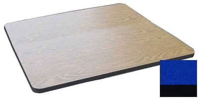 "Correll CT42S 27 42"" Square Cafe Breakroom Table Top, 1.25"" High Pressure, Blue"