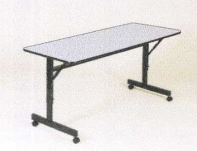 Correll Ft2472m 15 Flip Top Table W Gray Melamine Top Black Frame