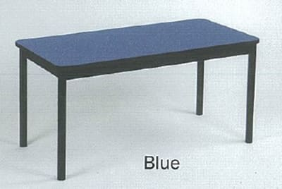 "Correll LR2472 37 Economical Library Table w/ Wear Resistant Surface & T Mold Edge, 24x72"", Blue"