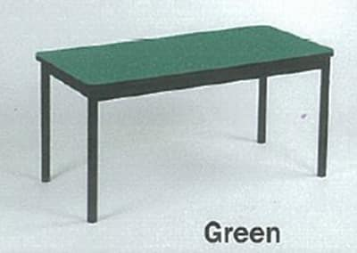 """Correll LR2472 39 Economical Library Table w/ Wear Resistant Surface, T Mold Edge, 24x72"""", Green"""