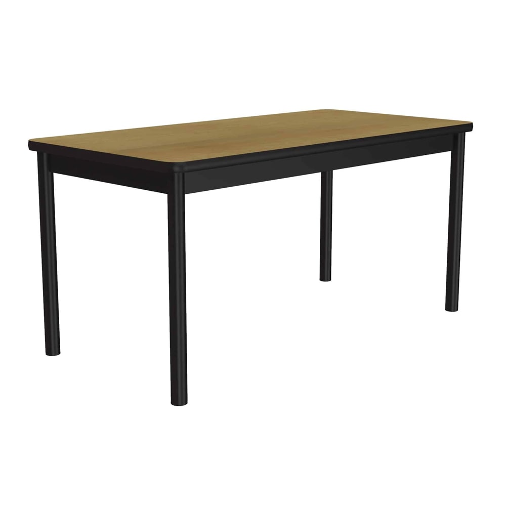 """Correll LR3072 16 Economical Library Table Wear Resistant Surface T Mold Edge 30x72"""" Fusion Maple"""