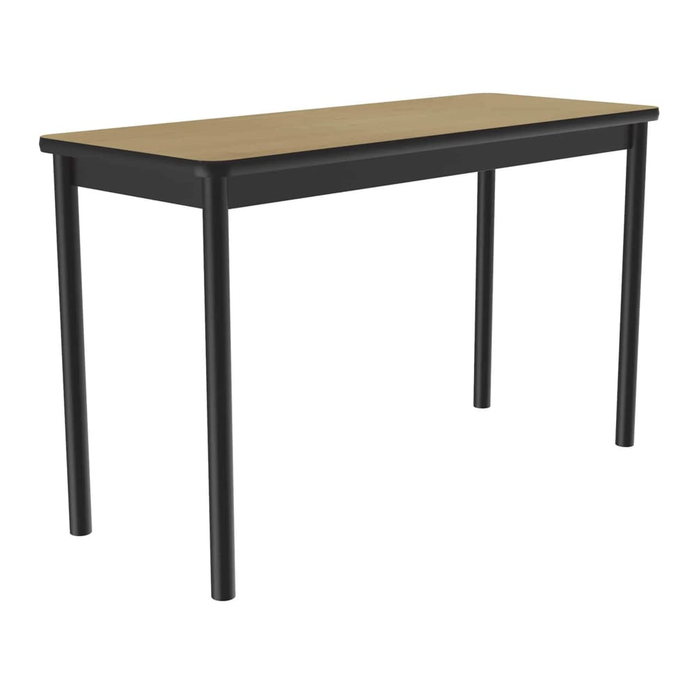 "Correll LT2448 16 Economical Lab Table w/ Wear Resistant Surface T Mold Edge 24x48"" Fusion Maple"