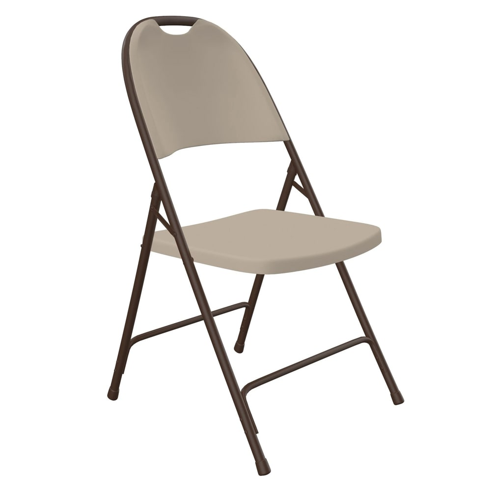 Correll RC350 24 Heavy Duty Folding Chair, Injection Molded, Mocha w/ Brown Frame