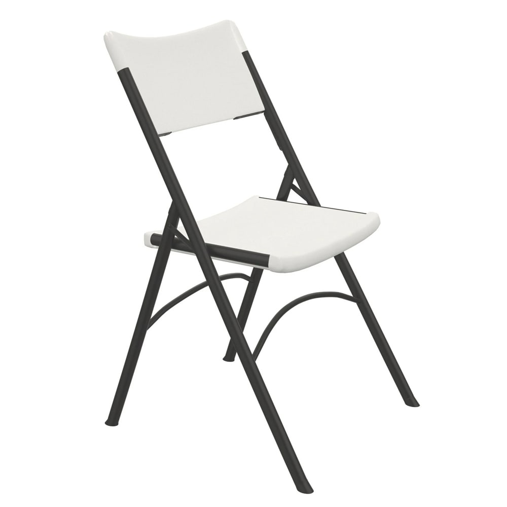 Correll RC400 Economy Folding Chairs, Blow-Molded, Gray Granite