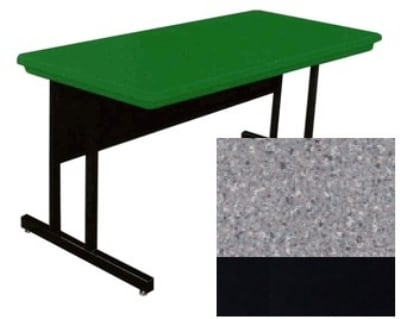 "Correll RCS2448 15 Desk Height Training Table w/ 1.25"" Top, 48""W x 24""L, Gray Granite"