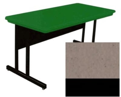"Correll RCS3072 24 26"" Computer Training Table w/ Blow-Molded Top, 30 x 72"", Mocha Granite"