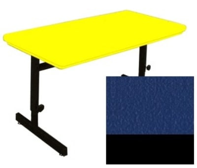 "Correll RCSA3060 27 Computer Training Table w/ Blow-Molded Top, Adjusts to 29"", 30 x 60"", Blue"
