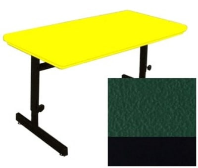 "Correll RCSA3072 29 Computer Training Table w/ Blow-Molded Top, Adjusts to 29"", 30 x 72"", Green"
