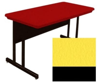"Correll RWS2448 28 29"" Computer Training Table w/ Blow-Molded Top, 24 x 48"", Yellow"
