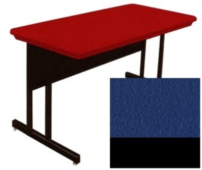 """Correll RWS3060 27 29"""" Computer Training Table w/ Blow-Molded Top, 30 x 60"""", Blue"""