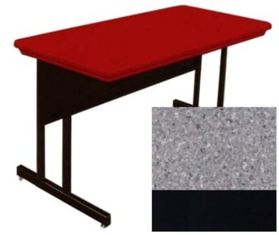 "Correll RWS3072 15 29"" Computer Training Table w/ Blow-Molded Top, 30 x 72"", Gray Granite"